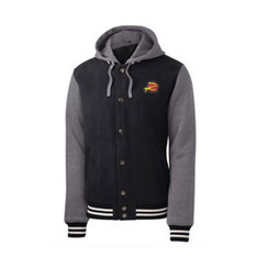 Z Logo Insulated Letterman Jacket: Black/Heather