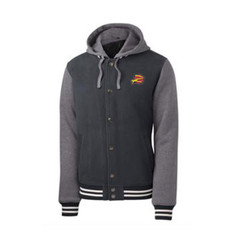 Z Logo Insulated Letterman Jacket: Graphite/Heather