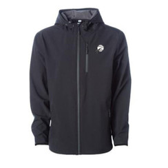 Z Logo Poly-Tech Soft Shell Jacket: Black
