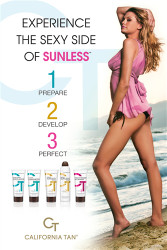 California Tan Sunless Tanning Poster