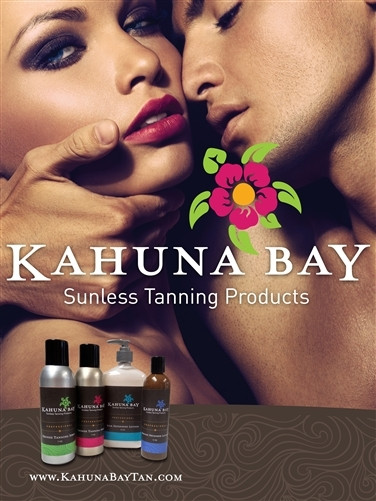 Kahuna Bay Tan 2013 Man & Woman Sunless Tanning Poster
