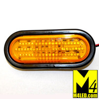 "6"" Amber LED Oval Running and Turn Lamp with seal and harness"