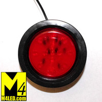 "2.5"" Red LED Round Clearance Lamp with seal and harness"
