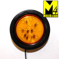 "2.5"" Amber LED Round Clearance Lamp with seal and harness"