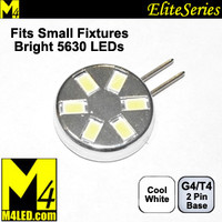 G4-6-5630-SIDE-CW Cool White Elite Series Smallest G4 / T3  Samsung 5630 LEDs Side Pins