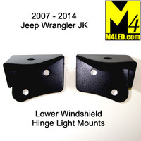 Jeep Wrangler JK Lower Windshield Light Mounts