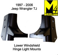 Jeep Wrangler TJ Lower Windshield Light Mounts