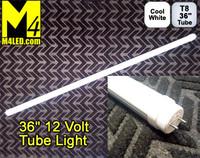 """T8-36TUBE-CW Cool White 36"""" 12 VOLT T8 LED Tube Light 6000k"""