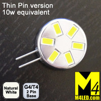 G4-6-5630-SIDE-NW-TP Natural White Elite Series Smallest G4 / T3  Samsung 5630 LEDs Thin Side Pins