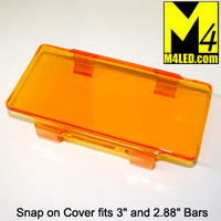 "Snap On Light Cover 6"" wide fits 3"" tall and smaller light bars AMBER"