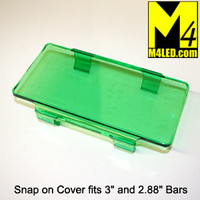"Snap On Light Cover 6"" wide fits 3"" tall and smaller light bars GREEN"