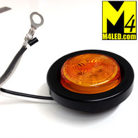 "2.0"" Amber LED Round Clearance Lamp with seal and harness"
