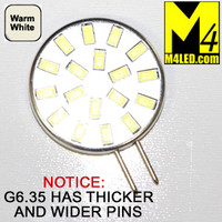 G6.35-18-5630-SIDE-WW Warm White Elite Series WIDE THICK PIN G6.35