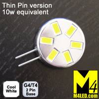 G4-6-5630-SIDE-CW-TP Cool White Elite Series Smallest G4 / T3  Samsung 5630 LEDs Thin Side Pins