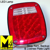 Trailer Single Tail Light with Bright LEDs - Jeep, Utility