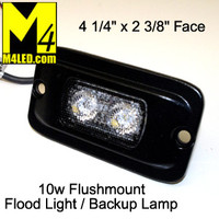 UT-W0186B 10 watt Flush Mount Flood / Backup Lamp