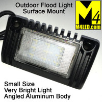 "Angled Aluminum Body Flush Mount Flood Light 5"" Black"