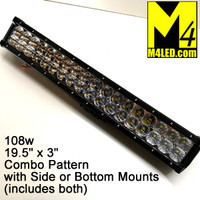 "Light Bar 20"" 108W with 36 3W CREE LED Chips - Combo Pattern"