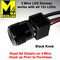 PCA 3 Wire Rotary Dimmer Black Knob
