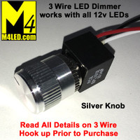PCA 3 Wire Rotary Dimmer Silver Knob