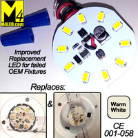 RETROFIT-10-5630-WIRE-WW Replacement for C.E. 58 LED Fixture Warm White