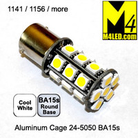 1156-24-5050-CW (1141) Cool White 5050 SMD Light Bulb with Round Base