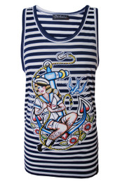 Anchor Girl Stripey Vest
