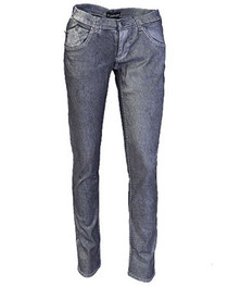 Black & Silver Metallic Low Rise Skinny Jeans