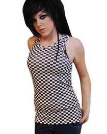 Black & White Check Beater Vest