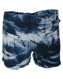 Bleach Wash Denim Cut Off Hot Pants