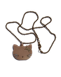 Brown Kitty Necklace