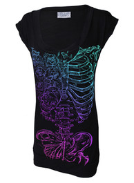Butterfly Ribs Fitted T Dress