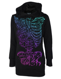 Butterfly Ribs Skinny Pullover Hood