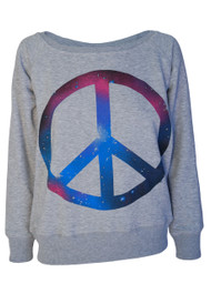 Cosmic Peace Sign Sweatshirt