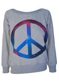 Cosmic Peace Sign Sweatshirt
