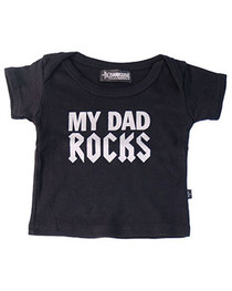 Dad Rocks Baby T Shirt