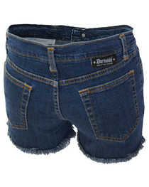 Dark Blue Denim Cut Off Hot Pants