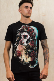 Day Of The Dead Rose Mens T-Shirt