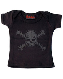 Distressed Skull Baby T Shirt