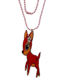 Flower Fawn (Pink) Pendant