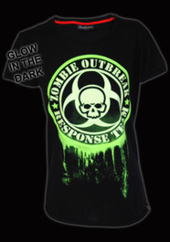Glow In The Dark Zombie Response Womens T Shirt