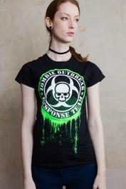 Glow In The Dark Zombie Response Womens T Shirt