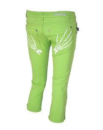 Green Skele Hand Capri Jeans