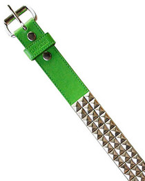 Green with Silver Pyramid Belt