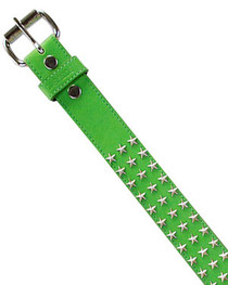Green with Silver Star Studs Belt