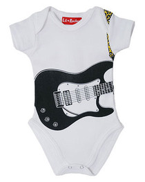 Guitar White Baby Grow