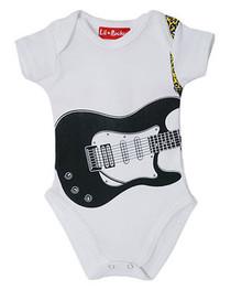 Guitar White Baby Grow