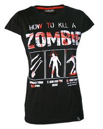 How To Kill A Zombie Womens T Shirt