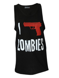 I Shoot Zombies Black Vest