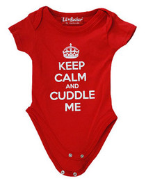 Keep Calm and Cuddle Me Red Baby Grow